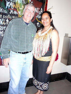 Bob with a Maori Dancer
