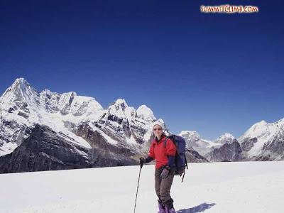 Summit client on Mera La 5400 m