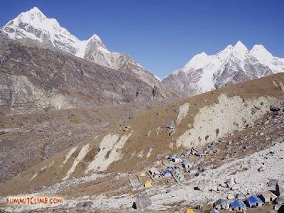 Base Camp, near Khare (Courtesy of SummitClimb)