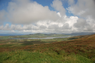 looking down on portmagee and valentia island