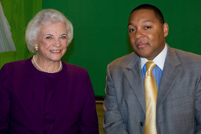 Retired Supreme Court Justice Sandra Day O'Connor and Artistic Director of Jazz at Lincoln Center Wynton Marsalis - Photo Credit_Nick Himmel for Jazz at Lincoln Center