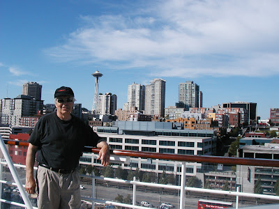 Looking back at Seattle on our Alaskan cruise. From Ten Best Reasons to Take a Cruise