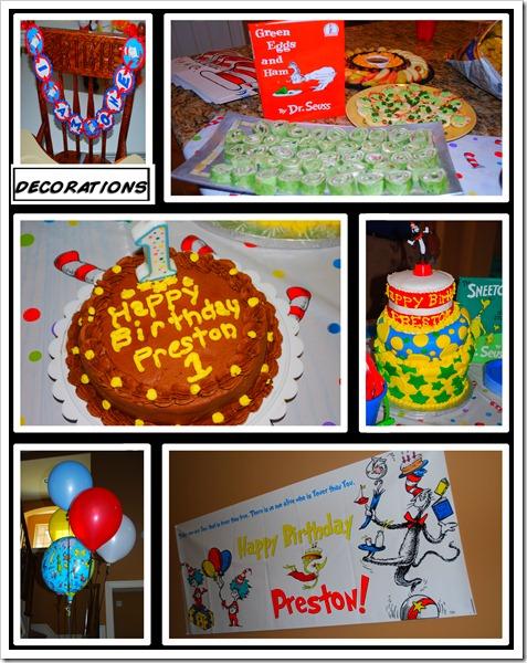 Prestons birthday decorations copy