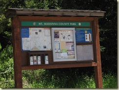 Mt. Madonna County Park sign
