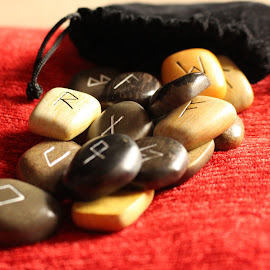 Rune Stones by Robyn Martland - Artistic Objects Other Objects ( red, divination, runes, objects, rune )