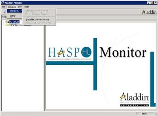 Aladdin Monitor: Install HL-Server Service