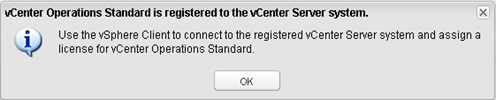 vCenter Operations - vCenter registration instructions
