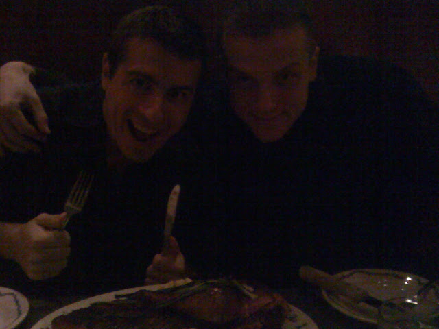 Bryan Hanson and I about to munch five pounds of meat