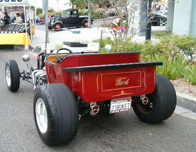 Rear view of T-Bucket Roadster by Patrick Copeland