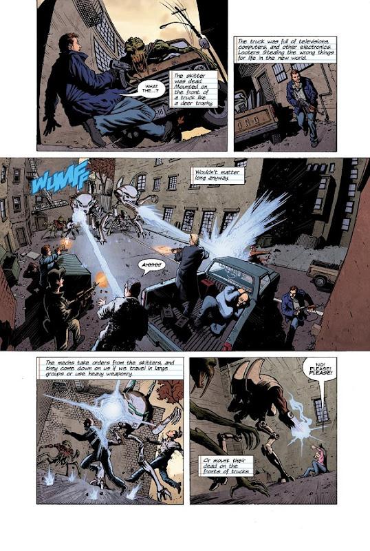 """fs webcomic ch2 pg1 Fotos e Trailer Para a Nova Produção de Spielberg, """"Falling Skies""""."""