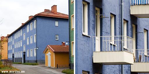 Blå huset i kvarteret Lasseby gärde