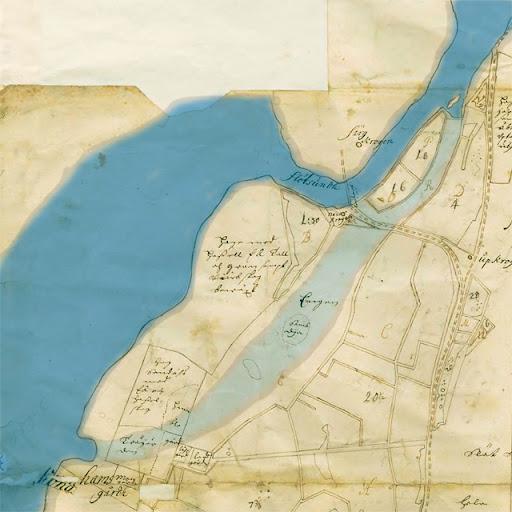 Karta över Flottsund och Kungshamn från 1693