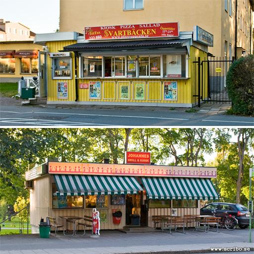 Kiosker vid Svartbäcksgatan och S:t Johannesgatan
