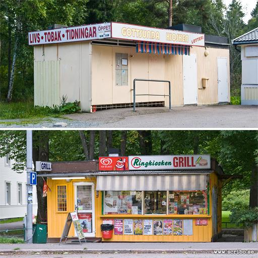 Kiosker vid Musikvägen och Ringgatan