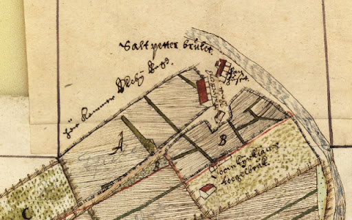Karta över salpeterbruket, 1635-36