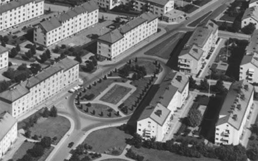 Rondellen vid strandbodkilen 1950