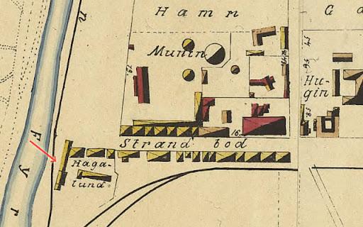 Karta Uppsala och Hagalund 1882