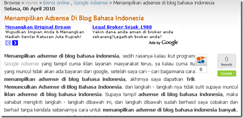 adsense di blog bahasa indonesia