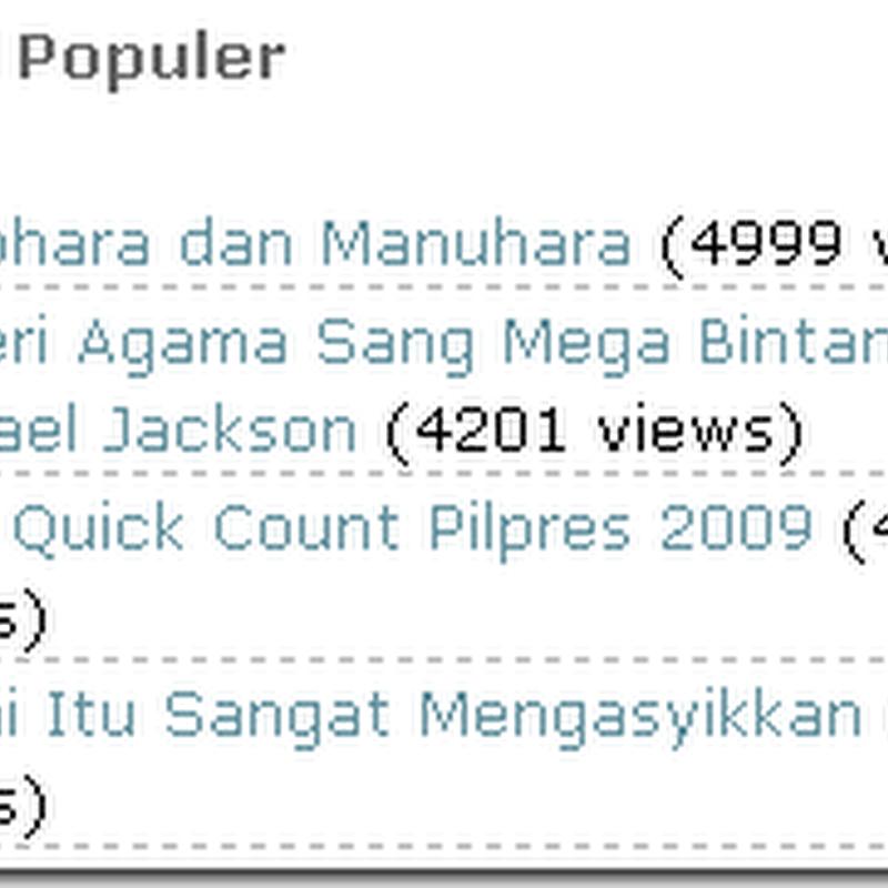 Manohara Mengalahkan Hasil Quick Count Pilpres 2009
