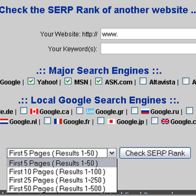 Tools Praktis Untuk Checking SERP Rank di 6 Search Engine