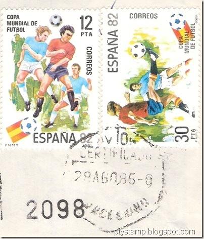 Spain-WC1982-postmark