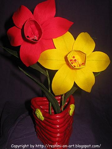Duplex-Paper-Flowers-The-Daffodil-Flowers