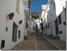 looking up an old traffic free street mijas