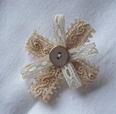 antique lace brooch