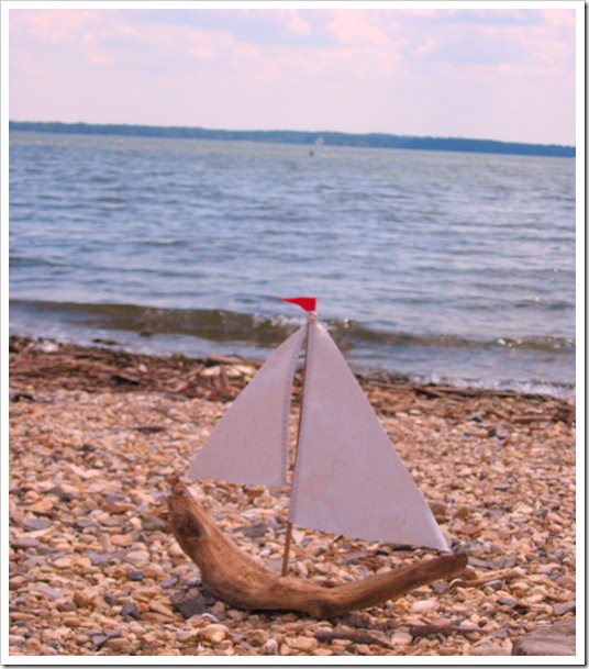 sailboat made out of driftwood 019
