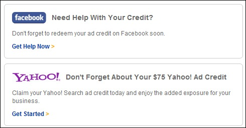 Facebook advertising credits coupons