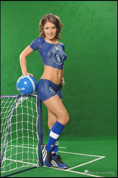 cup paint female World soccer body