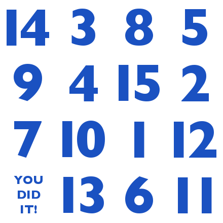 Magic Square 15 puzzle