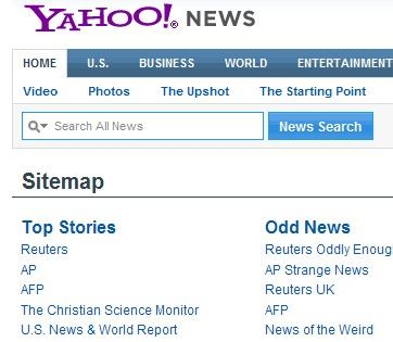 Yahoo News Site Map