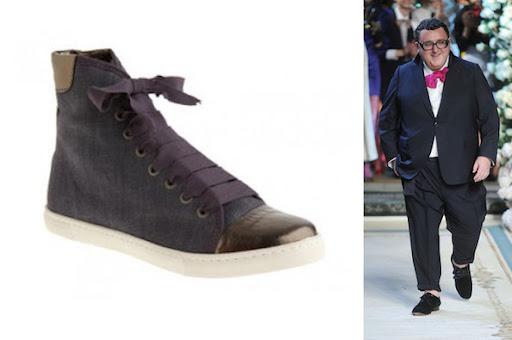 Lanvin's Hightop Cap Toe Sneaker