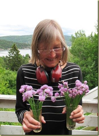 Anna og Gressløk i blomst