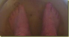 StHans papas feet in Salt water