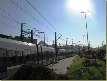 Istanbul Tram at Kabotas