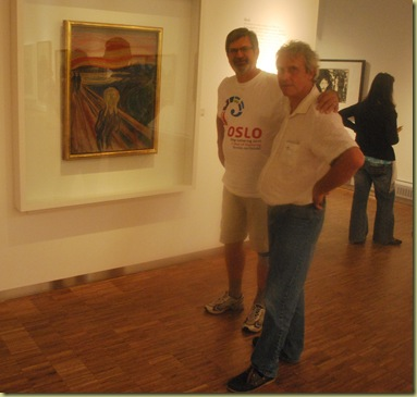 OsloBG - last day - Munch Museum - renny and Pierre and Scream