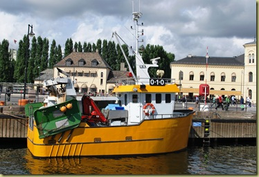 B1 - OsloBG -Museums at Bygdöy - Boat and Nobel Piece Center in Background