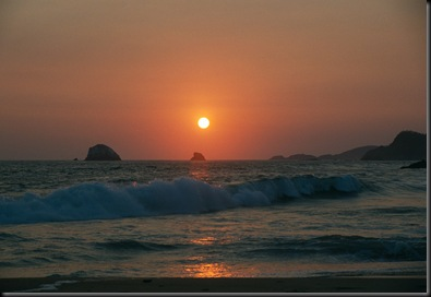 Zipolite sunset