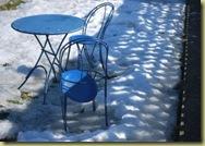 B Hvervenbukta - blåttt bord