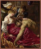 Sansón y Dalila, por Rubens