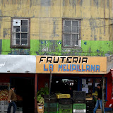 Colourful shops in Ancud