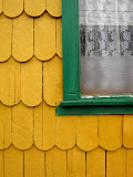 These wooden shingles are typical of the Chiloe area