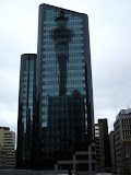 Sky tower reflection, Auckland