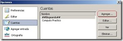 windows live writter agregar cuentas