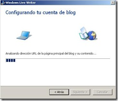 windows live writter configurando cuenta