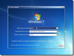 1 - Insalacion windows 7 Preferencias regionales