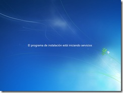 8 - Iniciando servicios Instalacion Windows 7