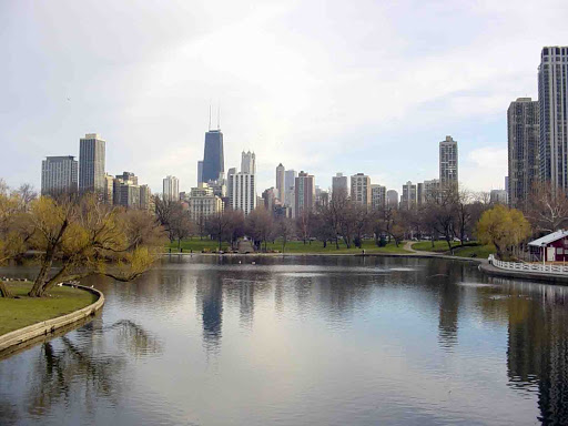 View of the Chicago skyline from Lincoln Park For more Wordless Wednesdays